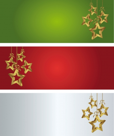 abstract christmass background with golden star