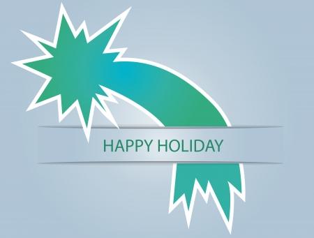 christmas star - card vector illustration Illustration