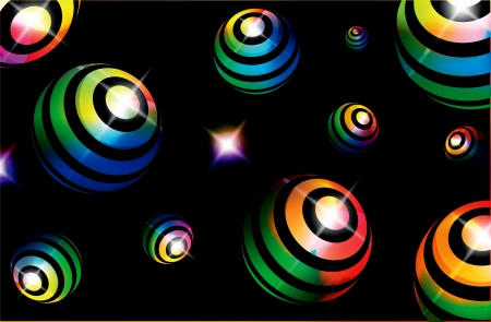 disordered: Abstract colorful background with ball