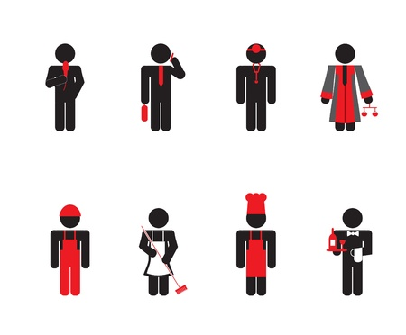 working people - icon set Illustration