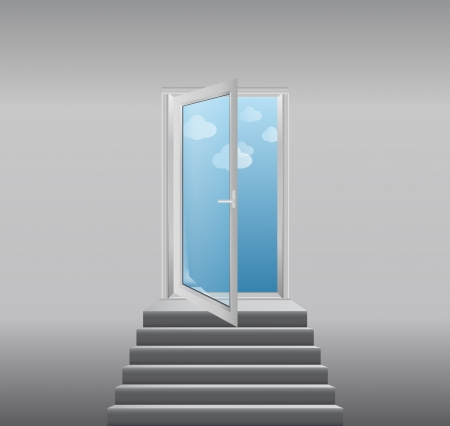 stairway to heaven - vector illustration