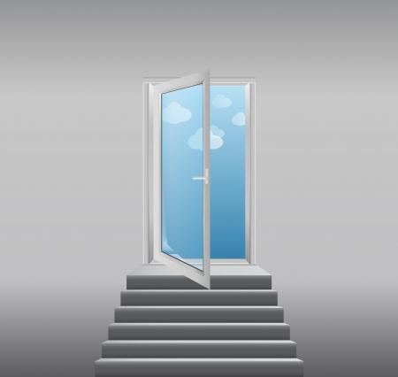 stairway to heaven - vector illustration