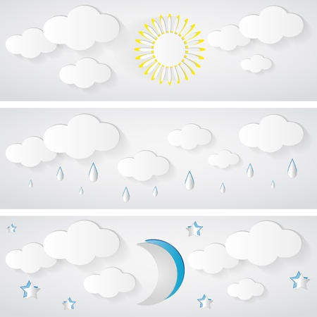 Abstract 3D Geometrical Design - weather banner Illustration