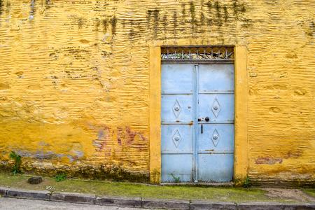 cracked concrete: Old door from Tire-Izmir-Turkey