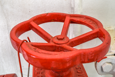 ferry boat: Valve. Close-up shooting  of ferry boat parts. Izmir-Turkey Stock Photo