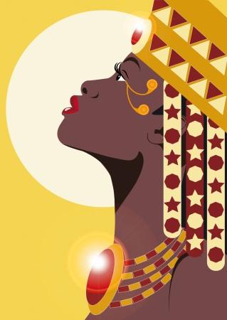 retratos: PRINCESS AFRICANO Ilustra��o