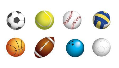 SPORT BALLS SET  イラスト・ベクター素材