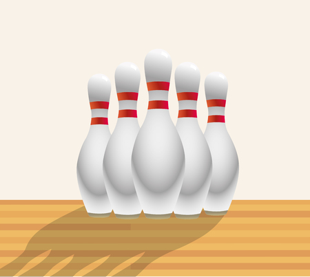alley: SKITTLES IN BOWLING ALLEY Illustration