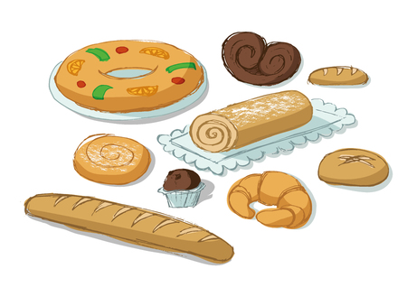 swiss roll: BAKERY PRODUCTS SET