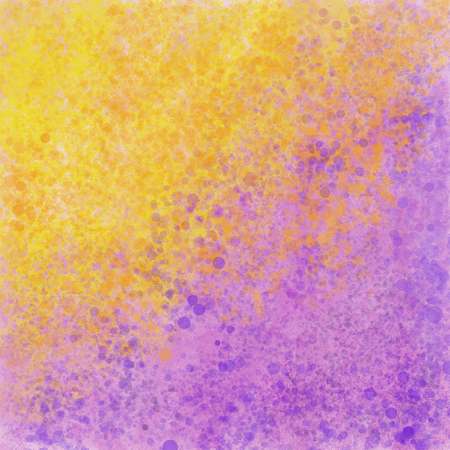 Yellow and violet splattered paint texture