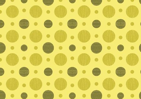 Green seamless pattern with textured circles Ilustracja