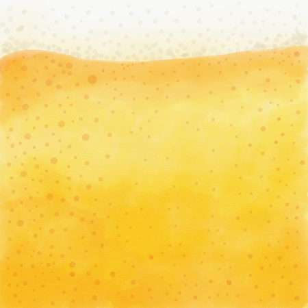 Refreshing and frothy beer close-up made with watercolor
