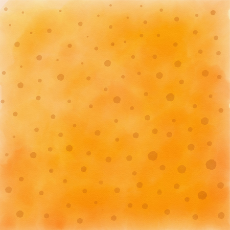 Orange texture with dots made with watercolor