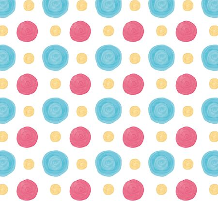 Colorful acrylic circles pattern with pastel colors