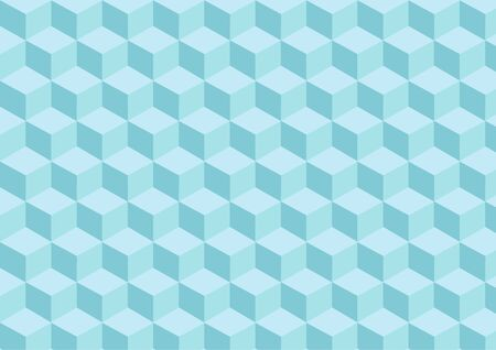 Light blue cubes pattern with three-dimensional effect. Illustration