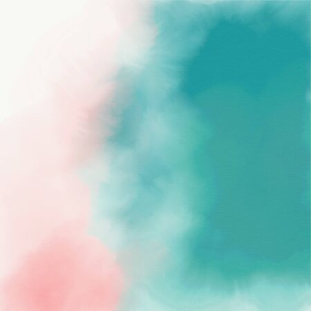 Abstract pink and turquoise watercolor texture Zdjęcie Seryjne