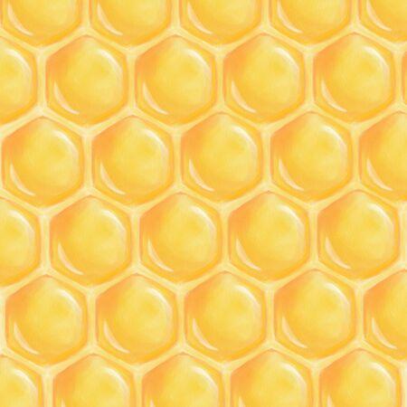 Yellow and shiny honeycomb texture