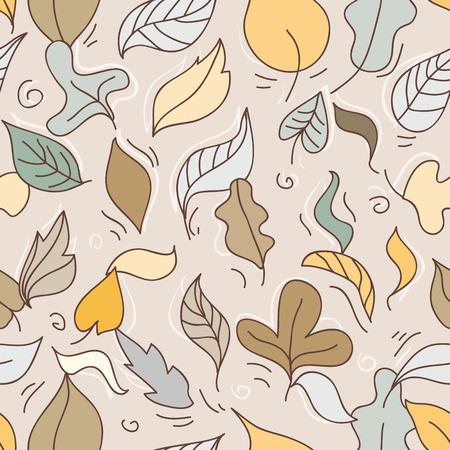 Seamless pattern with autumn leafs. Vector illustration. Illustration