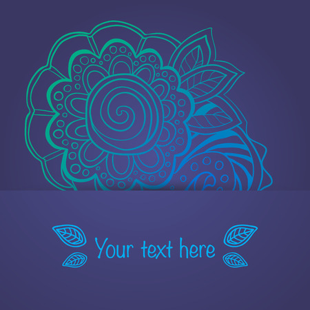 Ornament in ethnic style. Vector illustration.