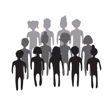 People crowd. Vector illustration.