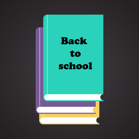 graphic novel: Set of books with text Back to school