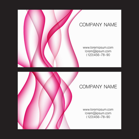 lop: Card with pink waves on background. Vector illustration Illustration