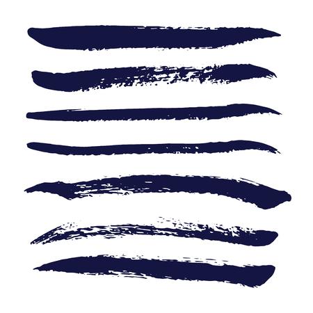 raceme: Set of grunge paintbrush strokes. Vector illustration.