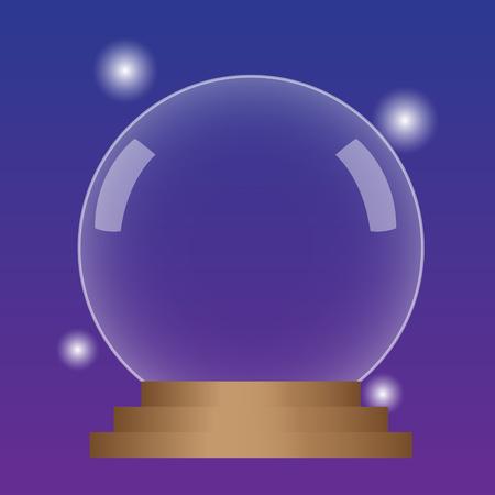 presage: Magic crystall sphere. Vector illustration.
