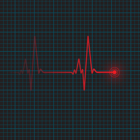 cardiograph: Heartbeat vector illustration Illustration