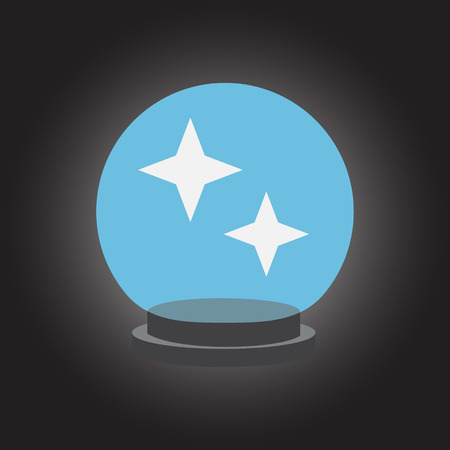 foretell: Magic crystall sphere. Vector illustration.