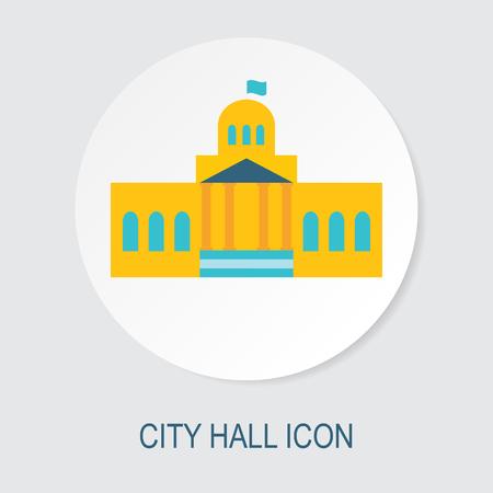 City hall icon Illustration