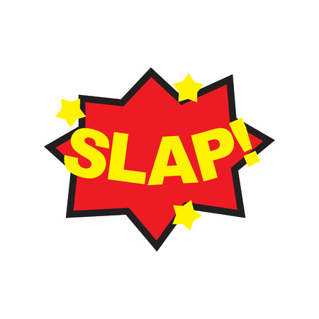 slap: The word Slap in comix cartoon style. Vector illustration. Illustration