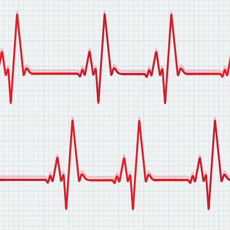 Seamless pattern with heartbeat
