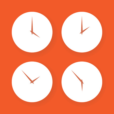 timekeeper: Set of simple clock icons. Vector isllustration.