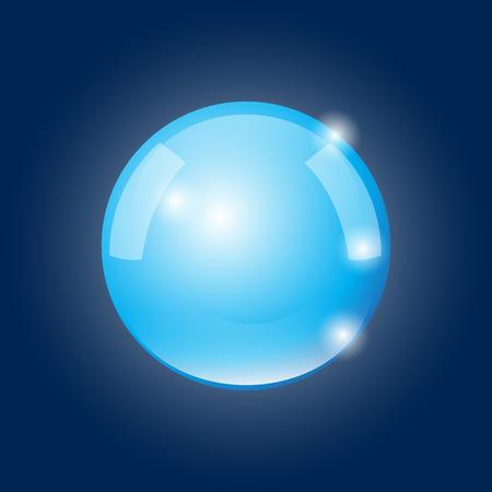 foretell: Magic crystall sphere. Vector illustration.
