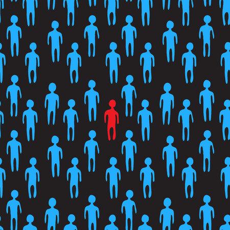 People crowd. Vector illustration. Seamless pattern.