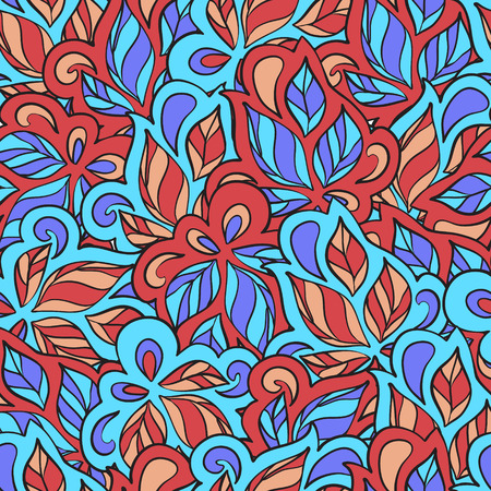 meandering: Seamless ornamental pattern in ethnic style. Vector illustration Illustration