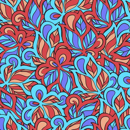 Seamless ornamental pattern in ethnic style. Vector illustration Illustration