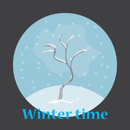 winter tree: Illustration of winter tree Illustration