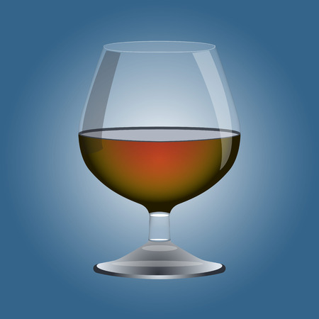 cognac: Cognac glass. Vector illustration.