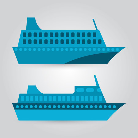 Passenger ship illustration. Vector icon.