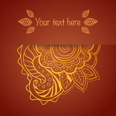 flexure: Ornament in ethnic style. Vector illustration.