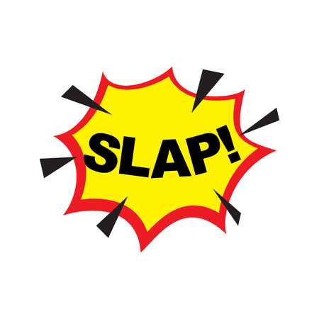 smack: The word Slap in comix cartoon style. Vector illustration. Illustration