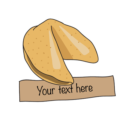 Fortune chinese cookie. Vector illustration. Illustration