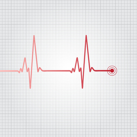 electrocardiograph: Heartbeat vector illustration Illustration