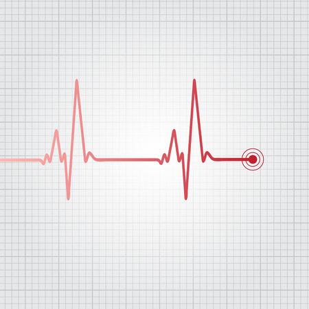 throbbing: Heartbeat vector illustration Illustration