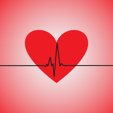 pulsation: Heartbeat with a heart shape