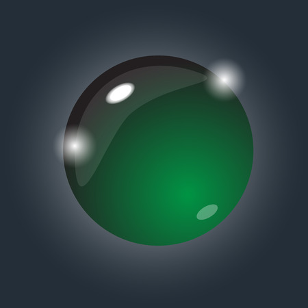Magic crystall sphere. Vector illustration.