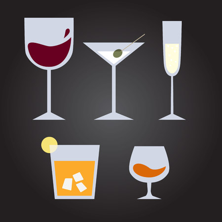 spirituous beverages: Set of drinks