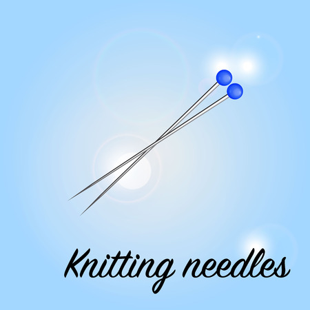 needles: Knitting needles.